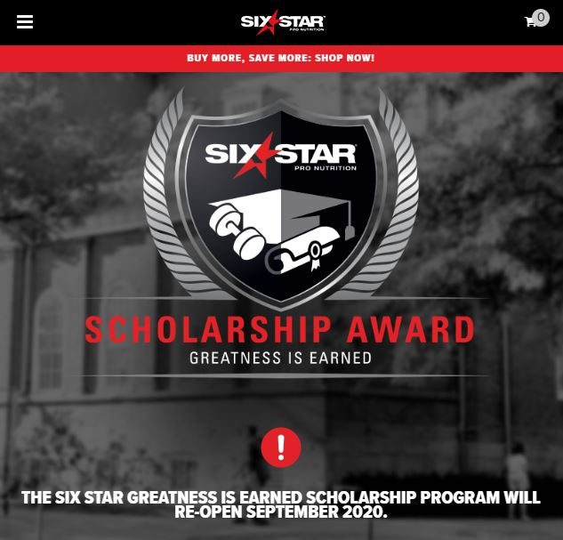 Six Star Pro Nutrition - Scholarship Link Building