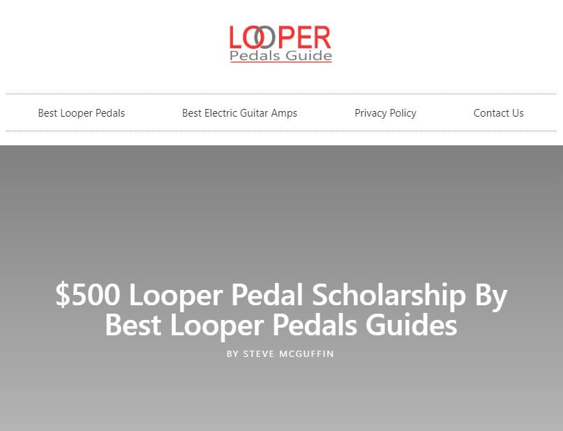 Looper Pedals Guide - Scholarship Link Building Example